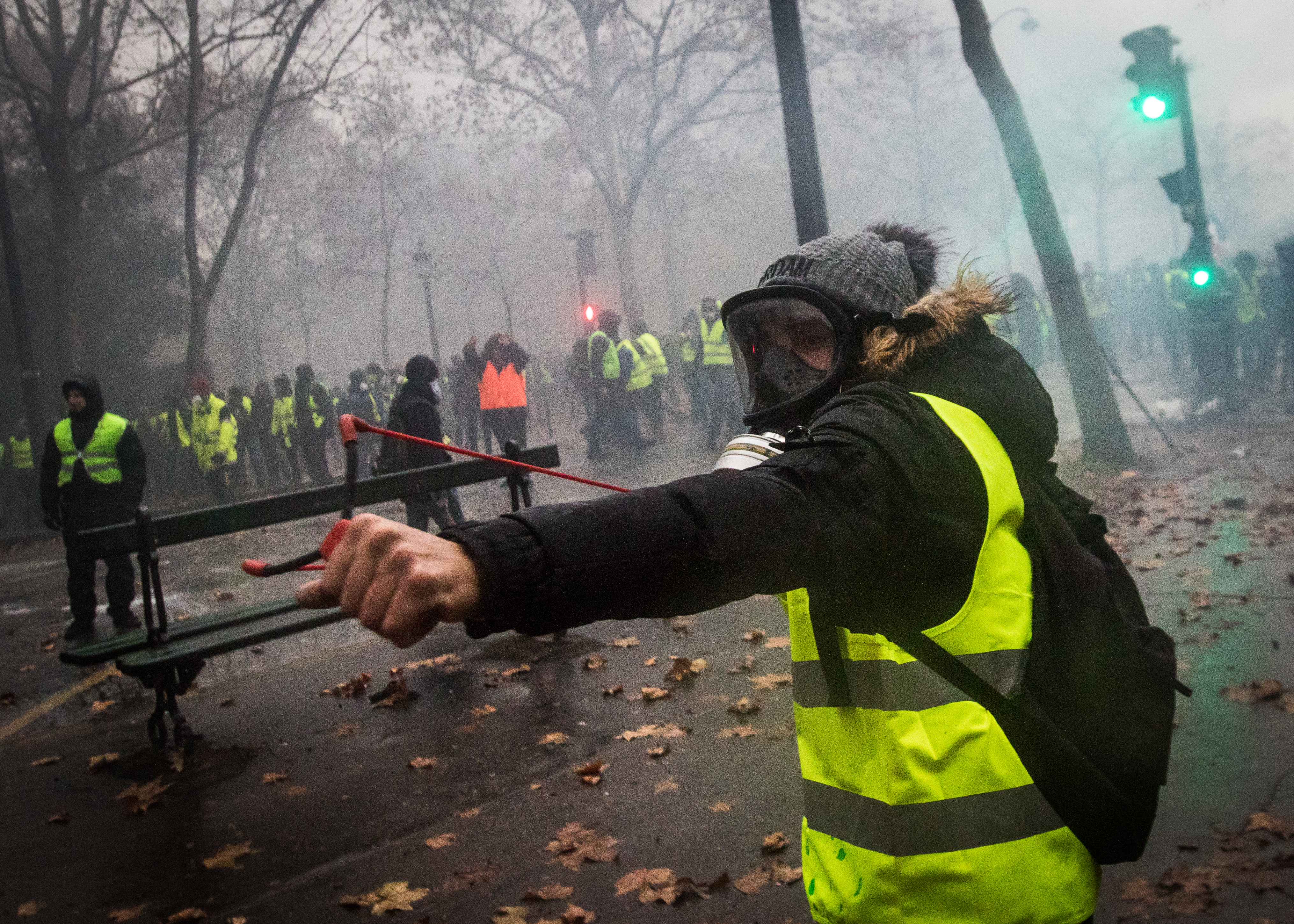Movement of the yellow vests in Paris